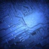 Fondo del microchip Fotografia Stock
