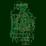 Fondo del microchip, circuito de la electrónica, EPS10 Imagen de archivo libre de regalías