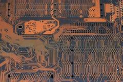 Fondo del microprocesador del omputer del  de Ñ Foto de archivo