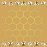 Fondo del miele e dell'ape Fotografia Stock