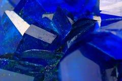 Fondo del mineral del vitriolo azul Fotografía de archivo