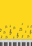 Fondo del minimalist de las llaves del piano y de las notas de la música stock de ilustración