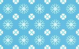 Fondo del modello del fiocco della neve illustrazione di stock
