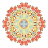 Fondo del modello del pizzo con l'ornamento indiano Fotografia Stock