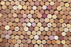 Fondo del modello del primo piano di molti sugheri differenti del vino Fotografia Stock