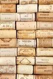 Fondo del modello del sughero del vino Fotografia Stock Libera da Diritti
