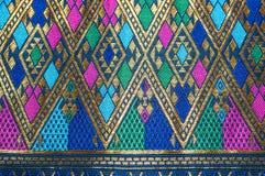 Fondo del modello del tessuto di seta dell'Asia Fotografie Stock Libere da Diritti
