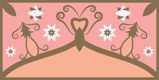 Fondo del modello dell'ornamento con il rosa ed il colore di Brown illustrazione vettoriale