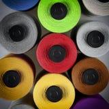 Fondo del modello della bobina del cotone Fotografia Stock Libera da Diritti