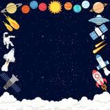 Fondo del modello dello spazio cosmico illustrazione di stock