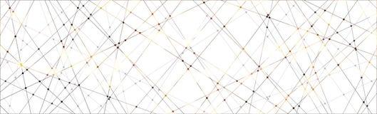 Fondo del modello di punto e della linea immagine stock