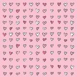 Fondo del modello di rosa del cuore di amore Fotografie Stock Libere da Diritti
