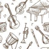 Fondo del modello di vettore degli strumenti musicali illustrazione vettoriale