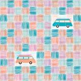 Fondo del modello - mini furgone Immagini Stock Libere da Diritti