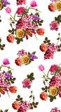 Fondo del modelo de flores del ramo fotos de archivo libres de regalías