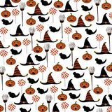 Fondo del modelo de Halloween Ilustración del vector imagen de archivo libre de regalías