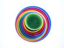 Fondo del modelo de la diversión de círculos coloreados Imagen de archivo libre de regalías