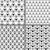 Fondo del modelo de la forma del diseño del triángulo del círculo Imagen de archivo libre de regalías