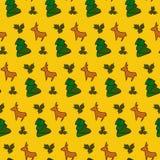 Fondo del modelo de la Navidad Diseño del invierno Ilustración del vector Foto de archivo