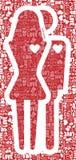Fondo del modelo de la tarjeta del día de San Valentín stock de ilustración