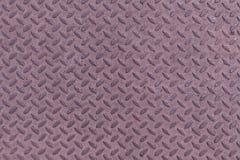 Fondo del modelo de la textura de la placa del diamante del acero inconsútil del metal Foto de archivo libre de regalías