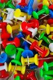 Fondo del modelo de la textura del primer del Pin Contactos coloridos Rojo amarillo, azul, verde imagen de archivo
