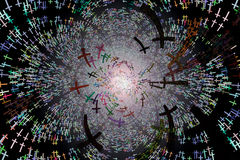 Fondo del modelo de las cruces Foto de archivo libre de regalías