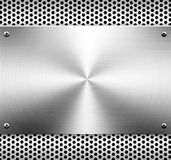 Fondo del modelo del metal Fotografía de archivo libre de regalías