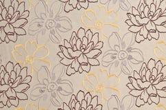 Fondo del modelo del papel pintado de la flor de la tela Imagenes de archivo