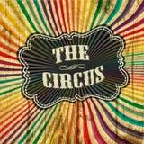 Fondo del modelo del rayo de sol del circo. Imágenes de archivo libres de regalías