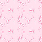 Fondo del modelo del vector con las estrellas rosadas Imagen de archivo libre de regalías