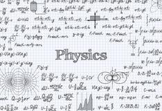 Fondo del modelo del vector de la física en libro de ejercicio libre illustration