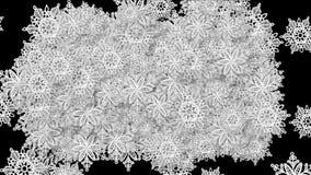 fondo del modelo del diseño floral de los chrismas de la nieve del copo de nieve 4k stock de ilustración