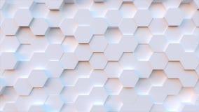 Fondo del modelo del hexágono de la tecnología almacen de metraje de vídeo