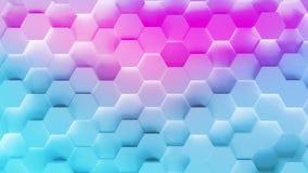 Fondo del modelo del hexágono de la tecnología metrajes