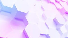 Fondo del modelo del hexágono de la tecnología del multicolor almacen de metraje de vídeo