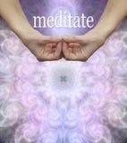 Fondo del modelo del tablero de mensajes de la meditación imagen de archivo libre de regalías