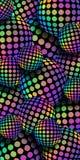fondo del mosaico dell'ologramma dell'arcobaleno delle palle 3d Modello iridescente verde blu giallo lilla delle sfere di pendenz illustrazione vettoriale