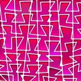 Fondo del mosaico del vetro macchiato di vettore Fotografie Stock