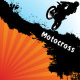 Fondo del motocrós del vector Imágenes de archivo libres de regalías