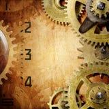 Fondo del movimento a orologeria Fotografia Stock