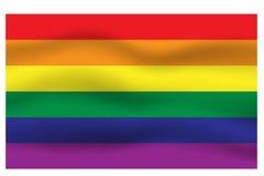 Fondo del movimiento de la bandera del arco iris Fotografía de archivo libre de regalías