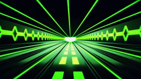 fondo del movimiento de Loopable del túnel de Tron de la ciencia ficción del verde 3D libre illustration