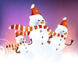 Fondo del muñeco de nieve Fotografía de archivo libre de regalías