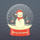 Fondo del muñeco de nieve de la Navidad Imagenes de archivo