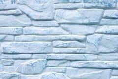 Fondo del muro di mattoni blu decorato fotografia stock libera da diritti
