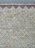 Fondo del muro di mattoni dell'annata con il reticolo Fotografie Stock Libere da Diritti