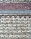Fondo del muro di mattoni dell'annata con il reticolo Fotografia Stock