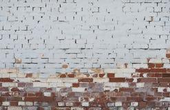 Fondo del muro di mattoni dell'annata con lo stucco Fotografia Stock Libera da Diritti
