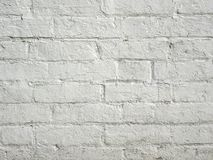 Fondo del muro di mattoni dipinto bianco Immagine Stock